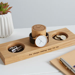Watch Stand With Bits And Bobs Tray - watch storage