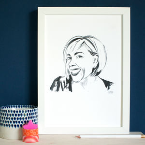 Personalised Ink Portrait Of You On A4 Cotton Paper