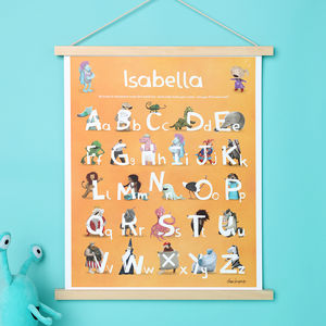 Lost My Name Personalised Alphabet Poster - under £25