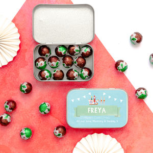 Personalised Christmas Keepsake Tin - novelty chocolates
