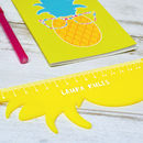 Personalised Pineapple Ruler