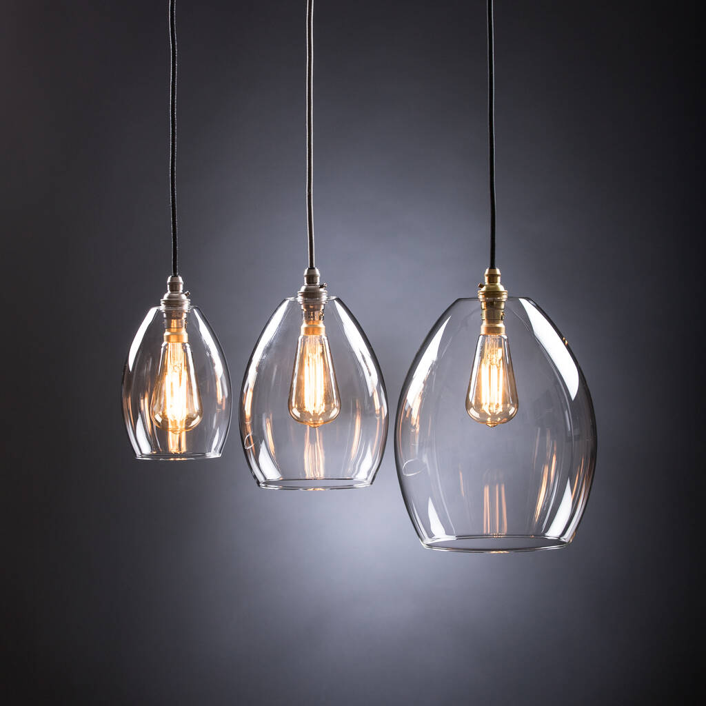 Clear Glass Jules Single Pendant Light By Glow Lighting Notonthehighstreet Com