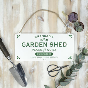 Grandad's Garden Shed Metal Sign - art & decorations