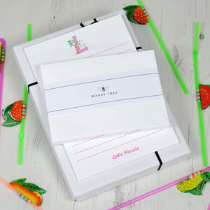 Childrens Personalised Writing Paper Set Alphabet