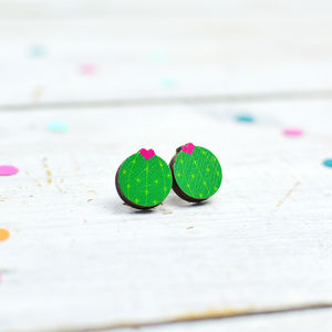 Flowering Cactus Stud Earrings