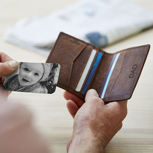 Personalised Woven Leather Rfid Protected Card Holder - accessories