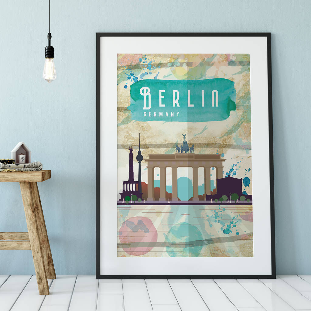 D Printing Exhibition Berlin : Berlin germany cityscape art print by creative