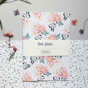 'The Plan' Pink Daisies A5 Notebook