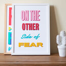 Other Side Of Fear Retro Print