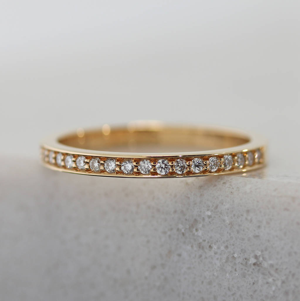Rose Gold Eternity Ring 2mm