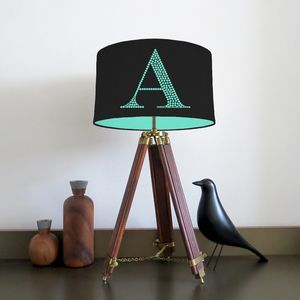 Personalised Plain Cotton Letter Lampshade - office & study
