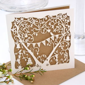 Wedding Card Garden Party Laser Cut - wedding cards