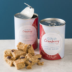Personalised Gin And Cranberry Fudge In A Can - secret santa gifts
