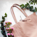 Pastel Tote Leather Super Soft Italian Leather Bag