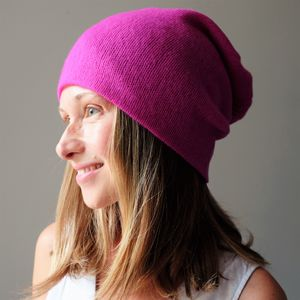 Personalised Cashmere Beanie Hat - contemporary women's fashion