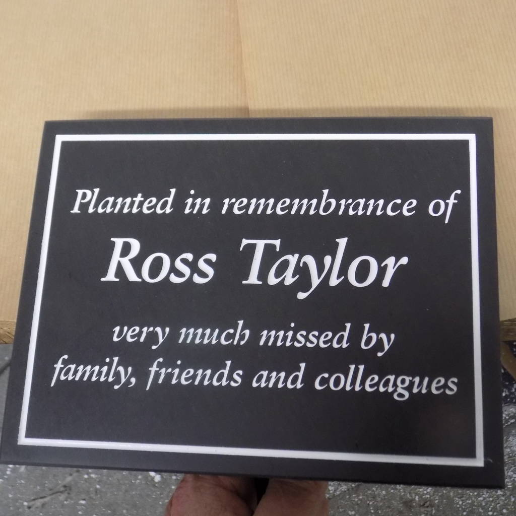 personalised tree planting plaque by england signs rh notonthehighstreet com