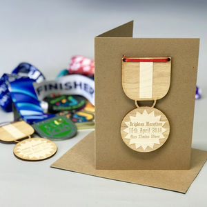 Personalised Congratulations Race Time Medal