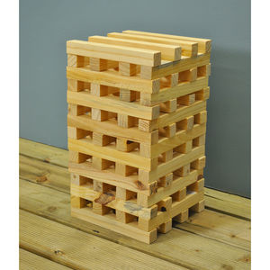 Giant Wooden Tower Garden Game