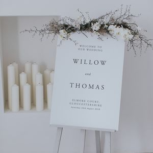 Willow Welcome Sign - outdoor decorations