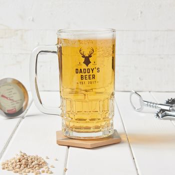 Personalised Daddy's Beer Tankard