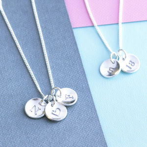 Sterling Silver Initial Necklace - winter sale