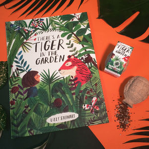 There's A Tiger In The Garden Book And Seedbom Set - gifts for children