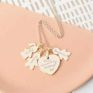 Personalised Family Charm Necklace - gifts for new parents