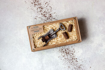 Wine Lovers Chocolage Gift Set Corkscrew And Corks