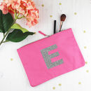 Personalised Glitter Make Up Bag