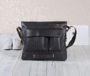 Eazo Leather Fold Over Laptop Bag - bags & purses