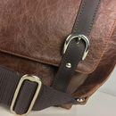 Personalised Handcrafted Leather Maxi Messenger Bag
