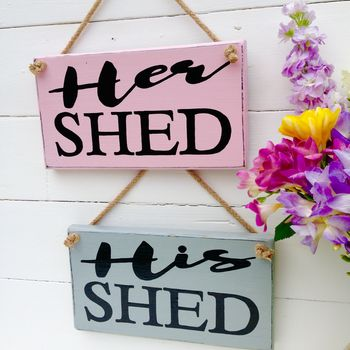 Personalised 'Rustic' Shed Sign