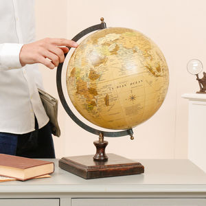 Personalised Decorative Antique Globe - frequent traveller