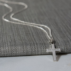 Personalised Men's Silver Cross And Chain - view all father's day gifts