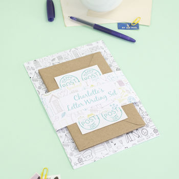 Personalised Illustrated Letter Writing Set