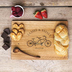 Cyclists Oak Chopping Serving Board