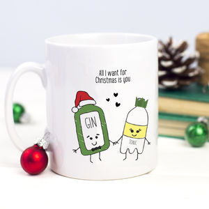 'All I Want For Christmas' Gin Mug