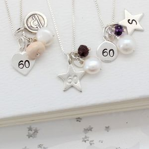 Personalised 60th Birthday Necklace - necklaces & pendants