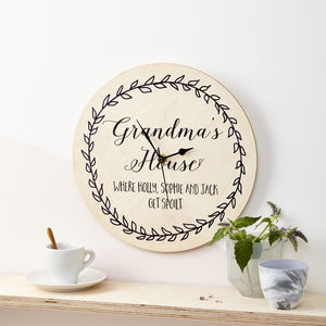 Personalised Grandparents Clock