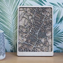 Austin Texas Multi Layer Wood Map