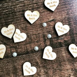 Personalised Wooden Table Confetti - tableware