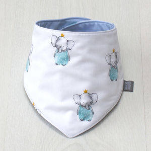 Fin The Elephant Reversible Dribble Bib