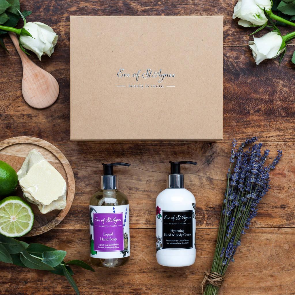 Organic Soap And Hand Cream Gift Set