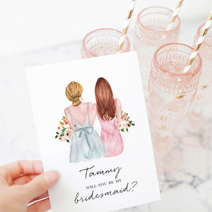 Will You Be My Bridesmaid Customisable Card