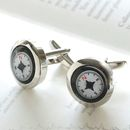 Personalised Compass Cufflinks