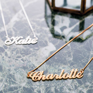 Personalised Handmade Name Necklace - top jewellery gifts