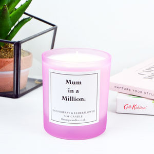 Frosted Pink Mother's Day Message Candle