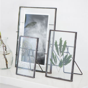 Standing Zinc Glass Photo Frame - picture frames
