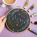 Black Wildwood Contemporary Embroidery Kit