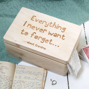 Personalised Wooden Keepsake Memory Box - boxes, trunks & crates
